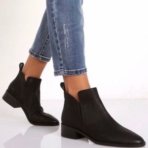 Dolce Vita Black Suede Booties, 7.5